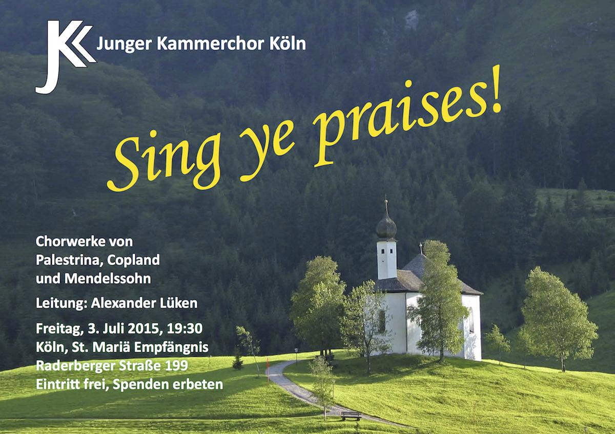 Sing ye praises! 2015 - Plakat